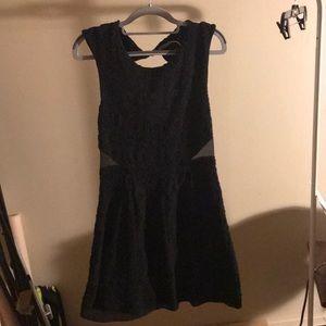 Mini dress with cutout back